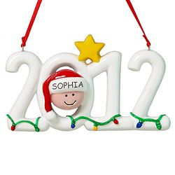 Personalized 2012 Face Christmas Ornament