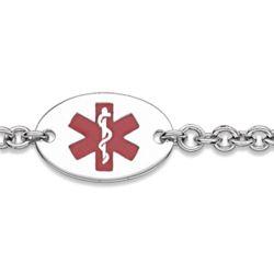 Sterling Silver Medical ID Oval Bracelet