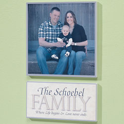 Personalized Life Begins Family Plaque