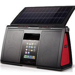 Solar Powered iPhone and iPod Speaker System
