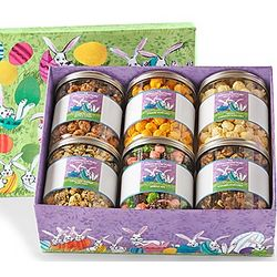 Bunny Patch 6-Canister Gourmet Popcorn Gift Box