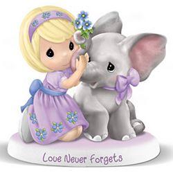 Precious Moments Alzheimer Awareness Love Never Forgets Figurine