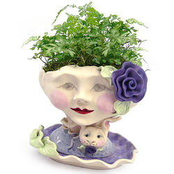 Bunny Rose Victorian Lovely Indoor Face Planter