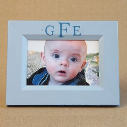Classic Monogram Hand Painted Babies 4x6 Picture Frame