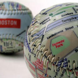 Boston's Fenway Park Map Baseball