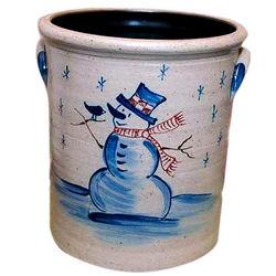 Holiday Stoneware Crock