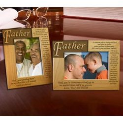 Personalized What it Means To Be a Father Wooden Picture Frame