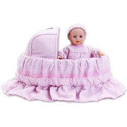 Personalized Fairy Tale Baby Doll in a Whimsical Basket