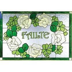 Irish Welcome Stained Glass Panel