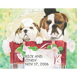 K-9 Wedding Personalized Print