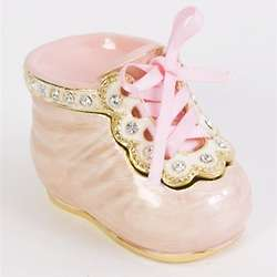 It's a Girl Baby Shoe Trinket Box