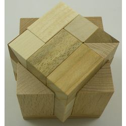 Two and Half Wooden Puzzle Brain Teaser