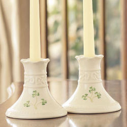 Tara Collection Shamrock Candlesticks