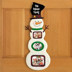 Personalized Felt Snowman Hanging Picture Frame