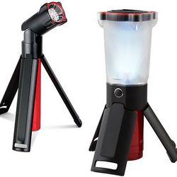 2-Piece Led Tripod Flashlight and Lantern