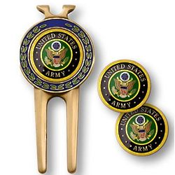 Military Golf Divot Tool and Ball Markers