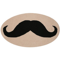 Plush Mustache Rug