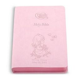 Personalized Pink Precious Moments Holy Bible