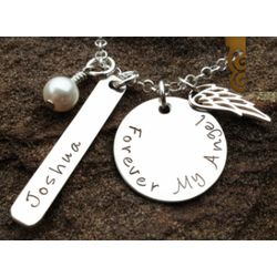 Forever My Angel Personalized Remembrance Necklace