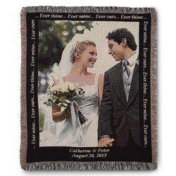 Wedding Photo Blanket with Black Border