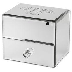 Custom Mirrored Jewelry Box with Drawer