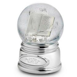 Praying Hands Engraved Musical Snow Globe
