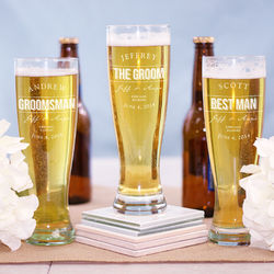 Engraved Groomsmen Pilsner Glass