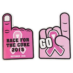 Personalized Ribbon Rally Hands