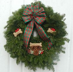 "24"" Doggie Bonez Christmas Wreath"