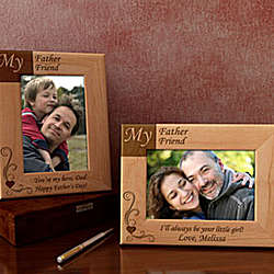 Personalized My Father, My Friend Wooden Picture Frame