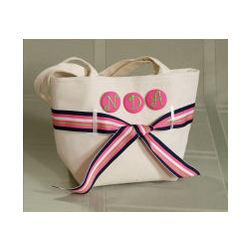 Natural Canvas Handbag with Ribbon Pack