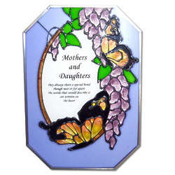 Mothers and Daughters Glass Suncatcher