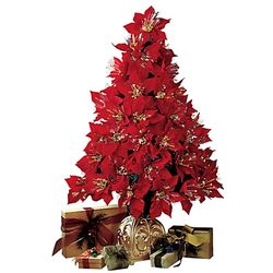Fiberoptic Poinsettia Tree