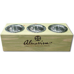 Personalized Triple Bowl Raised Pet Feeder