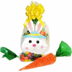 Boy's Bunny Tote with Candy Filled Carrots