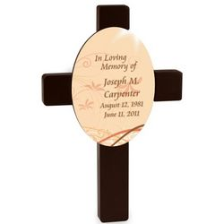 Personalized Morning Light Memorial Cross