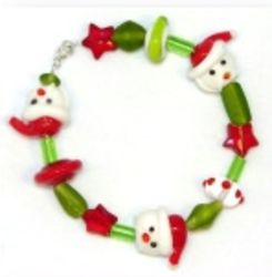 Santa and Star Bracelet and Earring Set