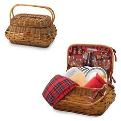 Buffalo Bills Highlander Rattan Picnic Basket