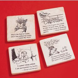 Book Quote Coasters