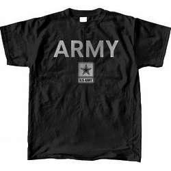 US Army Star Reflective Black T-Shirt