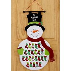 Personalized Snowman Advent Calendar