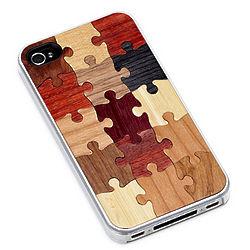 Wooden Puzzle iPhone Case