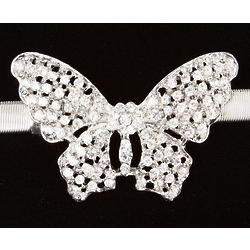 Silver Butterfly Metal Stretch Belt