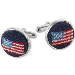 Men's USA Needlepoint Cufflinks