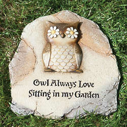 Owl Always Love Garden Stone