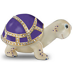 Don't Worry, Be Happy Amethyst Allure Turtle Music Box
