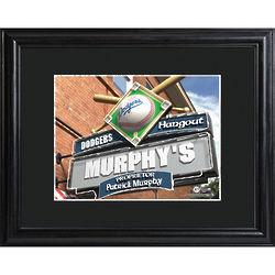 Personalized Premium MLB Pub Print