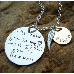 I'll Hold You in My Heart Remembrance Sterling Silver Necklace