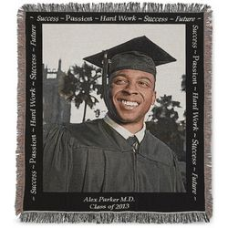Graduation Photo Throw Blanket