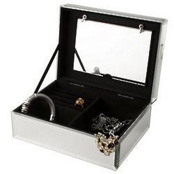 Personalized Mirrored Glass Photo Jewelry Box
